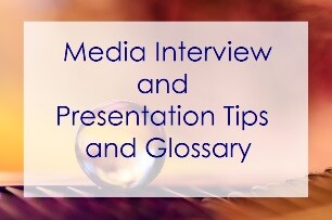 Free Media Interview and Presentation Tips and Glossary from expertmediatraining.com