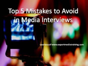 Top 5 Mistakes to Avoid in Media Interviews from Los Angeles Media Trainer Lisa Elia of Expert Media Training™
